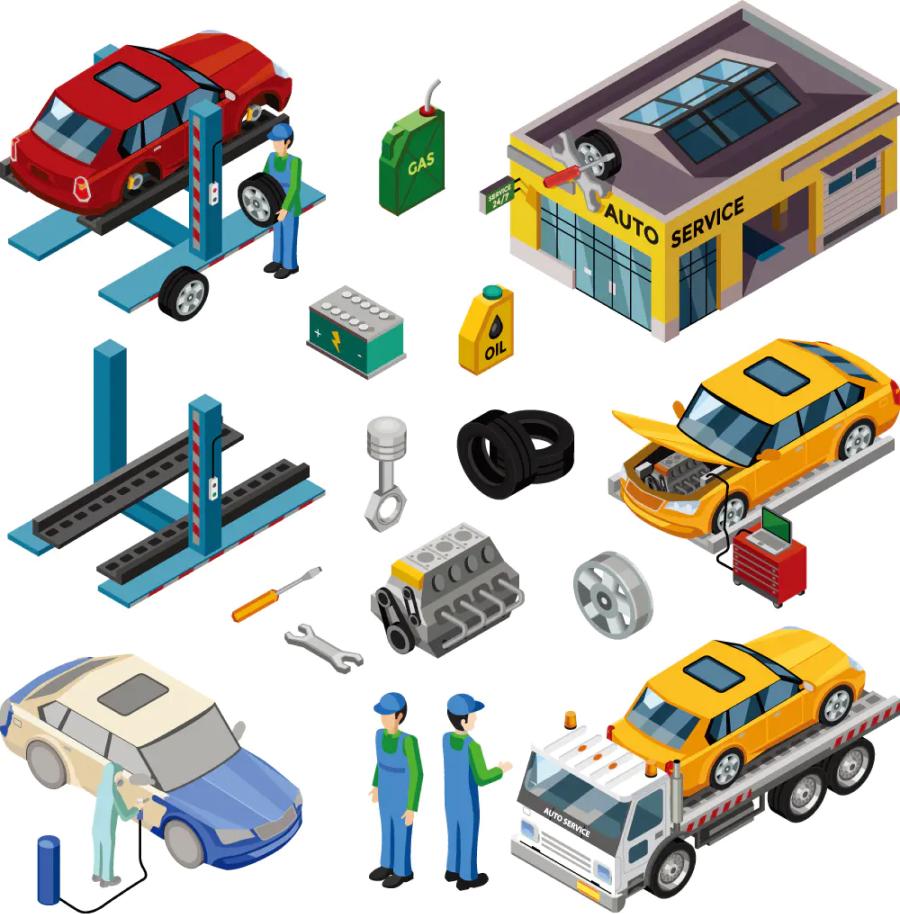 汽车维修2.5D图标 AI源文件-2