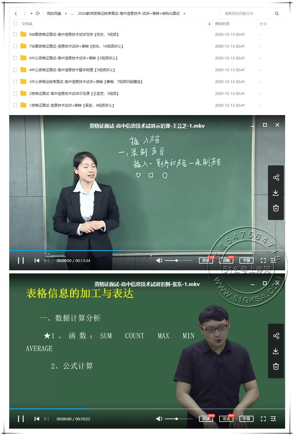 2020高中信息技术教师资格证统考面试(试讲+答辩+结构化面试)-51公考上岸网