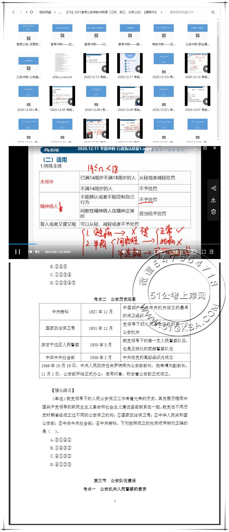 FB2021省考公安考前冲刺课(浙江、北京、江苏、山东)-51公考上岸网