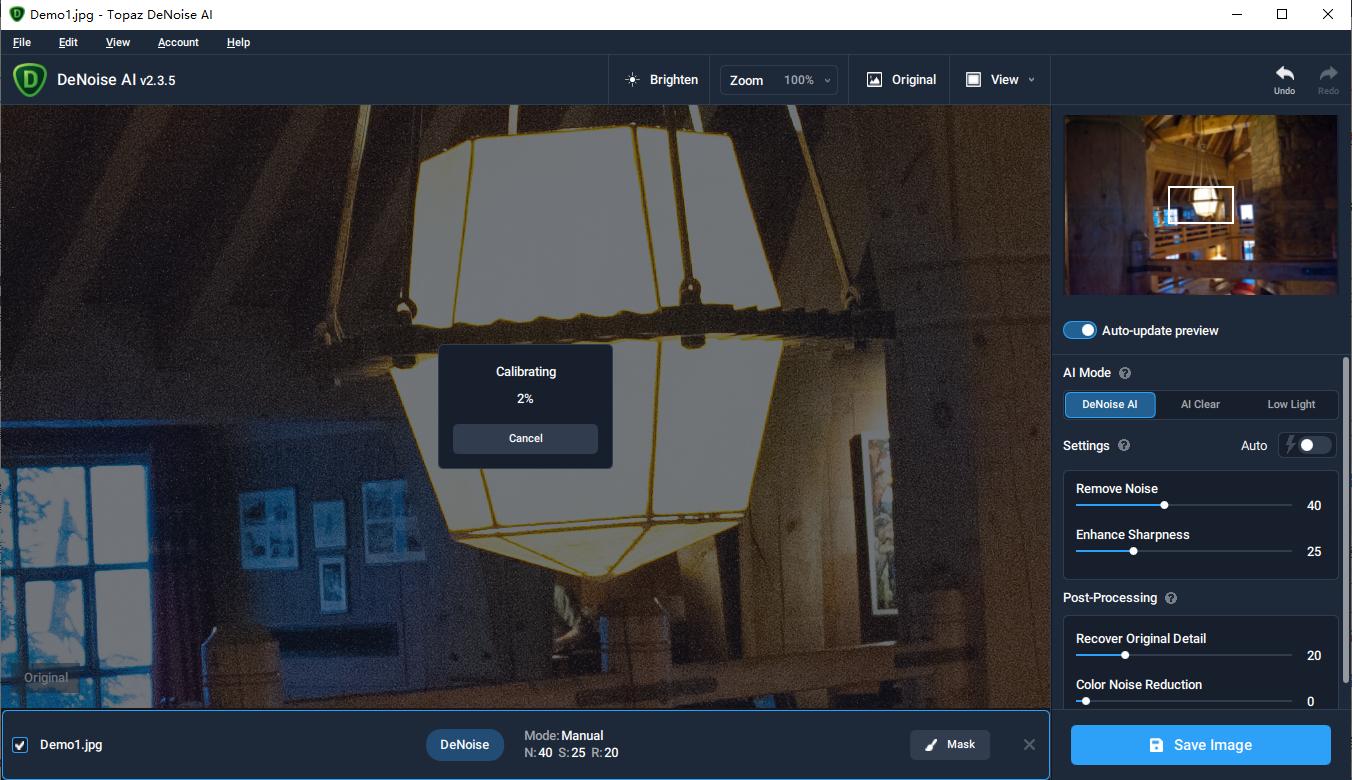 Topaz DeNoise AI v2.3.6 人工智能图像AI磨皮降噪工具