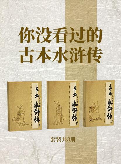 《你没看过的古本水浒传(套装共3册)》施耐庵 epub+mobi+azw3